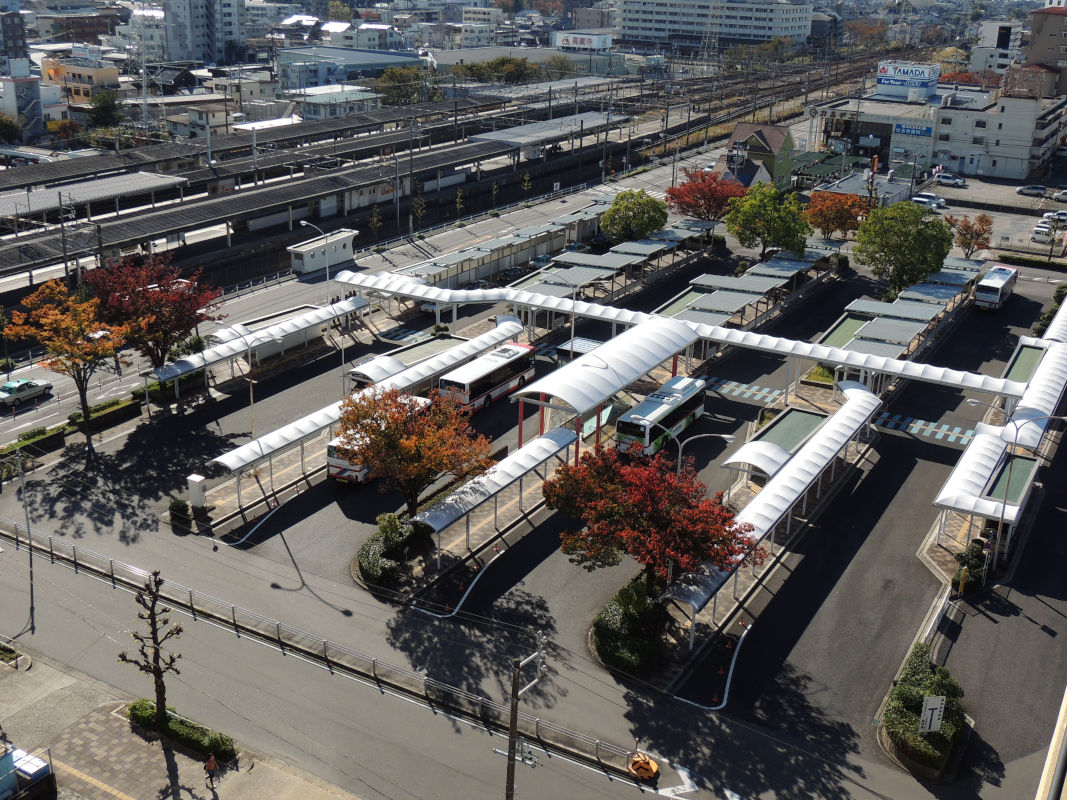 高蔵寺駅ロータリー