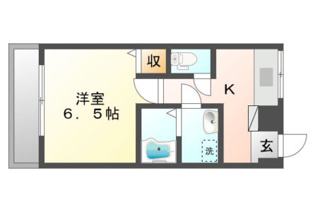 サンパーク乙輪 204号室 春日井市乙輪町 1K 間取り(間取)