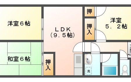 グランボナール 3C 名古屋市守山区中志段味 3LDK 間取り(間取)