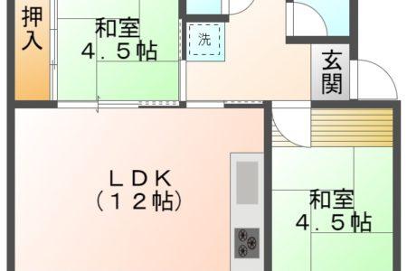 藤山台団地114棟 304号室 春日井市藤山台 間取り(間取)