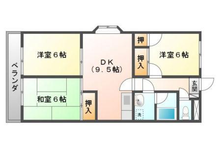 グランボナール 1E 名古屋市守山区中志段味 3LDK 間取り(間取)