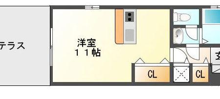 サニーガーデンⅡ 105号室 春日井市出川町 1R間取り(間取)