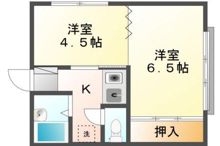 アーバンウェーブ岩成台 206号室 春日井市岩成台7丁目 間取り(間取)