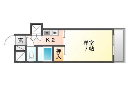 アーバンウェーブ白山 201号室 春日井市白山町 1K 間取り(間取)