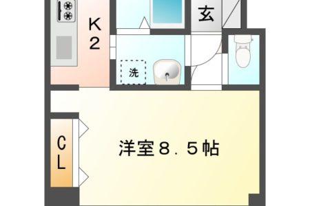 ワンダフルコートⅠ 205号室 春日井市東神明町 1K 間取り(間取)
