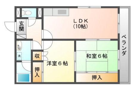 ベルメゾンⅠ 105号室 名古屋市守山区中志段味 2LDK 間取り(間取)