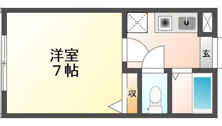 アルプスコート 403号室 春日井市高蔵寺町北 1K 間取り(間取)