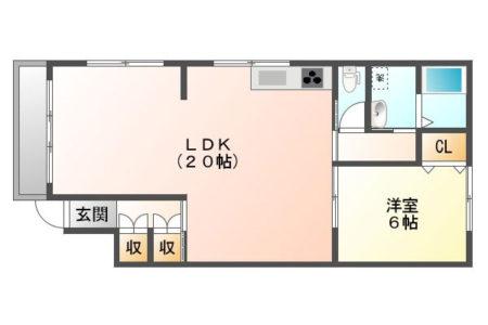 プラムハイツ 101号室 春日井市白山町 1LDK 間取り(間取)
