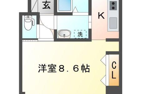ワンダフルコートⅠ 303号室 春日井市東神明町 1K 間取り(間取)