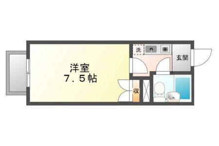 メゾンドマリオ 201号室 春日井市出川町 間取り(間取)