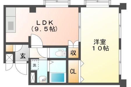 サンパーク乙輪 401号室 春日井市乙輪町 1LDK 間取り(間取)