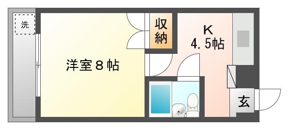 サンパーク乙輪 204号室 春日井市乙輪町 1K